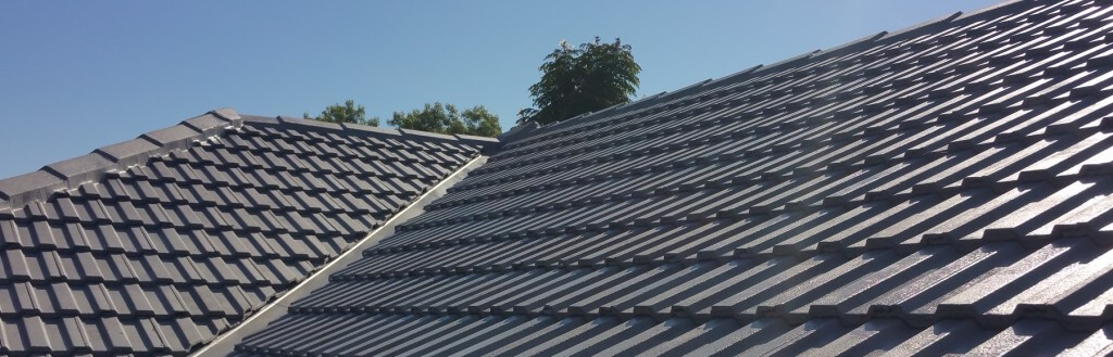 Grey repaired roof